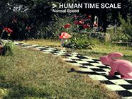 """TIME SCALES"" para o módulo Alice no País das Maravilhas"